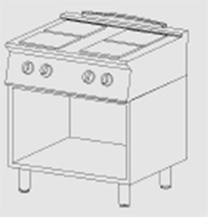 Cucina elettrica 4 piastre a giorno arredamenti e - Cucine con piastre elettriche ...