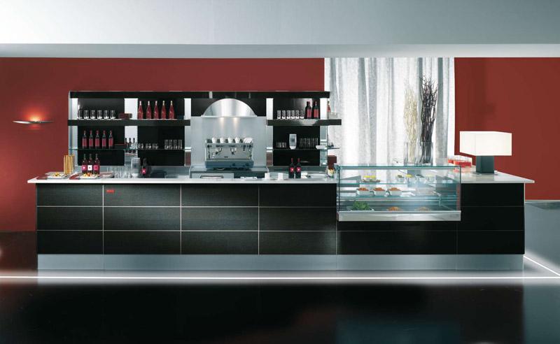 Arredamento per bar linea arredo bar arredamenti e for Banconi bar usati prezzi