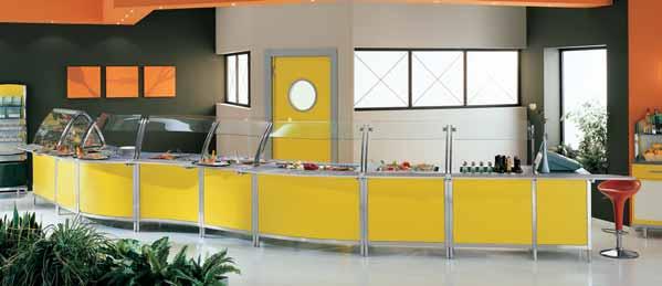 Arredamento per ristorazione self service linea arredo for Arredamento cartoleria usato