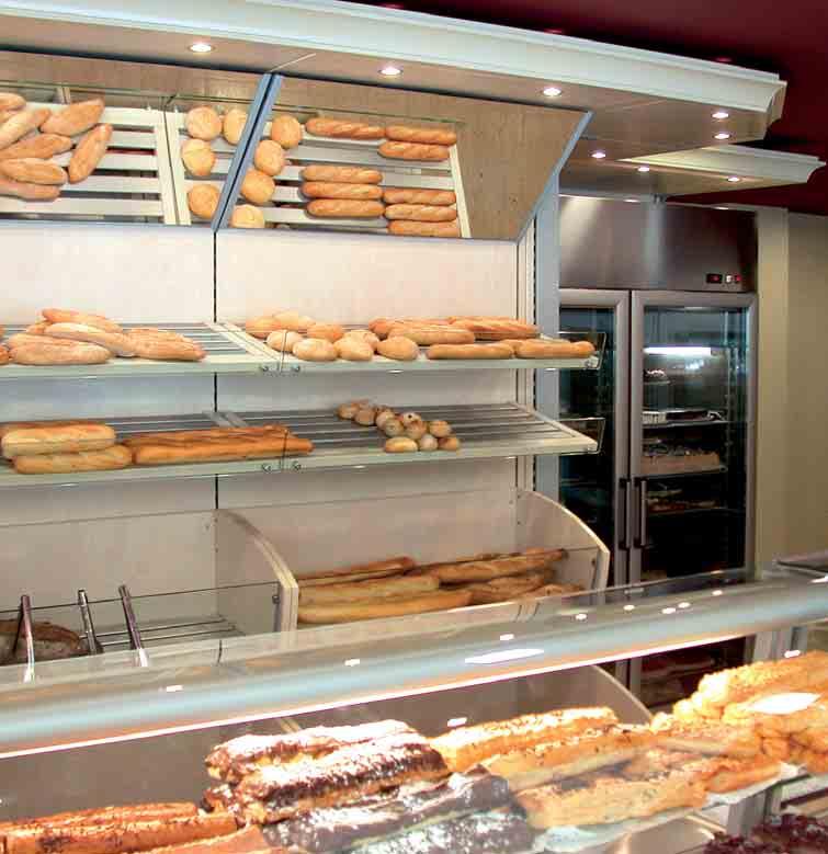 Arredamento per panetteria linea arredo panetteria for Arredamento cartoleria usato