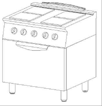 Cucina elettrica 4 piastre e forno elettrico arredamenti - Cucine con piastre elettriche ...