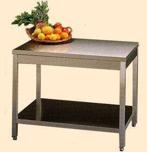 Tavolo con ripiano inferiore arredamenti e attrezzature for Arredamenti e attrezzature per la ristorazione